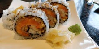 Sushi de patate douce image stock