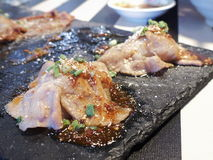 Sushi de porc de tranche Images libres de droits