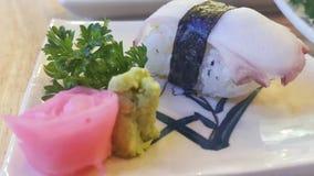 Sushi de poulpe Images libres de droits