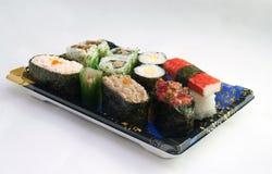 Sushi de supermarché Photos libres de droits