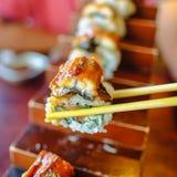 Sushi de Unagi Foto de Stock Royalty Free