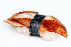 Sushi de Unagi con los pescados de la anguila Imagen de archivo libre de regalías