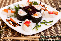 Sushi with decoration Stock Photo