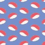 Sushi. Decorative seamless pattern. Vector vector illustration