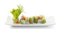 Sushi del aguacate Fotografía de archivo