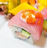 Sushi del atún Foto de archivo