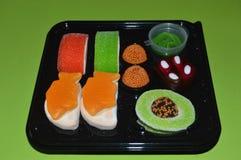 Sushi del caramelo fotografía de archivo libre de regalías