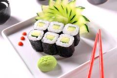 Sushi del cetriolo Fotografia Stock Libera da Diritti