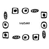 Sushi del garabato Fotos de archivo