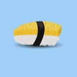 Sushi del huevo stock de ilustración