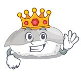 Sushi del ika del rey en fiambrera del charater ilustración del vector