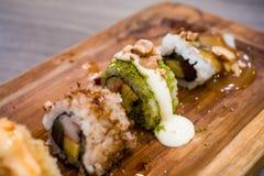 Sushi del limone fotografia stock