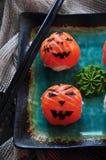 Sushi del partido de Halloween, sushi de Temari, bolas del sushi Imagen de archivo