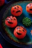 Sushi del partido de Halloween, sushi de Temari, bolas del sushi Foto de archivo libre de regalías