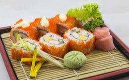 Sushi del rotolo Fotografie Stock