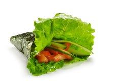 Sushi del rullo della mano Fotografie Stock