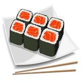 Sushi del vector Foto de archivo libre de regalías
