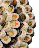 Sushi del vegano en una placa grande Imagen de archivo