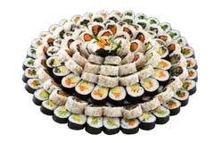 Sushi del vegano en una placa grande Imagen de archivo libre de regalías