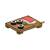 Sushi delicious japanese food. Icon vector illustration graphic design Stock Image