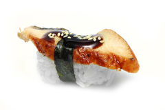 Sushi. Delicious smoked eel roll Stock Images