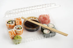 Sushi delivery Royalty Free Stock Photos