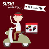 Sushi delivery Stock Photos