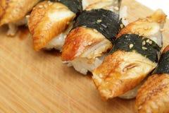 Sushi dell'anguilla Fotografia Stock Libera da Diritti