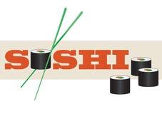 Sushi design element. Logo for sushi bar or restaurant Stock Images