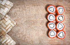 Sushi on the desk Stock Image