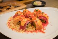 Sushi di amore fotografia stock