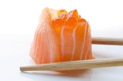 Sushi di color salmone Fotografia Stock