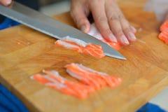 Sushi di color salmone Immagini Stock Libere da Diritti