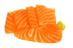 Sushi di color salmone saporiti Immagine Stock