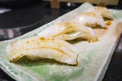 Sushi di Engawa Nigiri Immagini Stock
