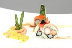 Sushi di Maki, alimento giapponese Immagini Stock Libere da Diritti