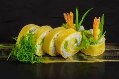 Sushi di Omlet Fotografie Stock Libere da Diritti