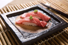 Sushi di Otoro (Tuna Belly grassa) Immagine Stock