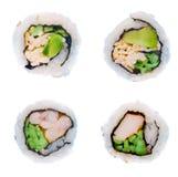 Sushi die op wit worden geïsoleerdh. Royalty-vrije Stock Foto