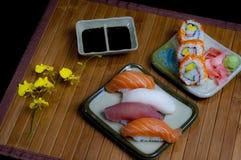 Sushi diner setting Royalty Free Stock Photo