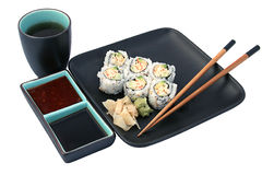 Sushi Dinner Isolated Royalty Free Stock Image
