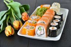 Sushi dinner setting Stock Photo