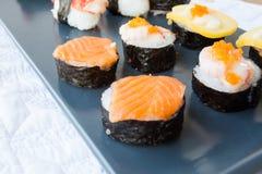 Sushi on disc Royalty Free Stock Photo