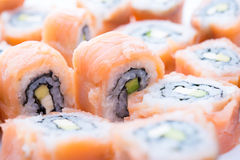 Sushi on a dish Royalty Free Stock Photo