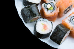 Sushi on a dish Royalty Free Stock Photos