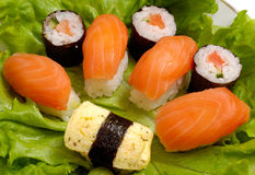 Sushi dish close-up Stock Image