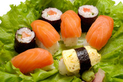 Sushi dish close-up Stock Photography