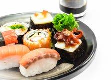 Sushi on dish Stock Images