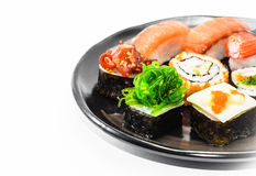 Sushi on dish Stock Photos