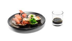 Sushi on dish Stock Image